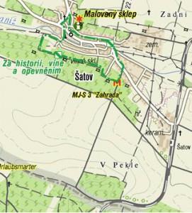 Mapa Šatova